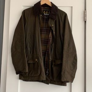 Olive Green Barbour Ashby Jacket: SMALL